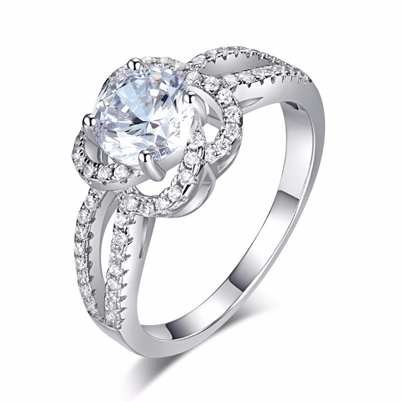 Solitaire With Accents Round Brilliant Cut 1.25 Carat Engagement Ring (1)